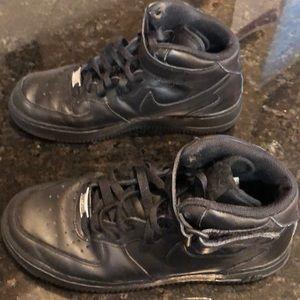Black Nike Air Force I Shoes